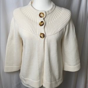 Michael Kors 3 button cape 3/4 sweater